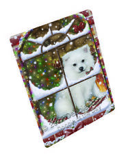 Please Come Home American Eskimo Dog Tempered Cutting Board Large Db236