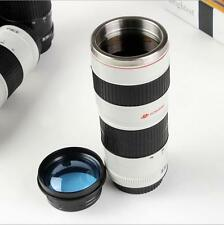 Couple Camera Lens Shaped EF 70-200mm Drink Thermos Coffee Cup Mug -White Gifts