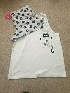 Cat Kitten Novelty Top & Shorts Pyjama Set Pyjamas Primark
