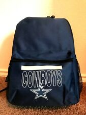 Dallas Cowboys NFL Zipper Backpack Zipper Pocket Mesh Pockets *New w/Tags*