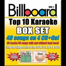 Billboard Top 10 Karaoke Box Set 40 Songs on 4 CDs +Gs Volume 1 60's-90's