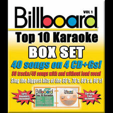 Billboard Top 10 Karaoke Box Set Vol.1/40 Songs/4 CD+Gs >NEW<