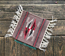 Zapotec Inspired Hand Woven Wool Table Mat, Southwestern Gifts, Santa Fe