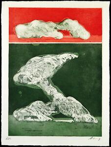 """""""Studie XX"""" 1969. Radierung Rudolf HOFLEHNER (1916-1995) handsigniert [Spies 81]"""