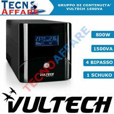 Gruppo Di Continuità UPS 1500VA Stabilizzatore PC DVR Vultech UPS1500VA-PRO