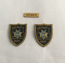 custom 1/6 Scale Police Sheriff Badge Sets the walking dead Rick Grimes