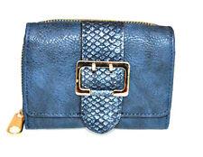 Portefeuille bleu femme faux cuir porte-monnaie clutch bag sac cadeau wallet G6
