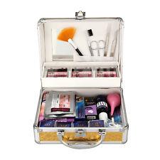 25 Items False Eye Lash Eyelash Extension Glue Removal Make-up Kit Set Gold Case