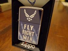 UNITED STATES AIR FORCE FLY FIGHT WIN ZIPPO LIGHTER MINT IN BOX 2016