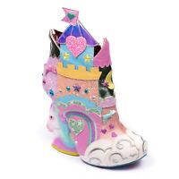 NEW IRREGULAR CHOICE *DREAMS COME TRUE* PINK (A) CASTLE UNICORN HEELS ANKLE BOOT