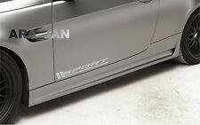 SPORT Vinyl Decal sport car sticker racing sticker emblem logo SILVER Pair