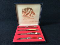 VINTAGE ORIGINAL LITTLE TRAPPERS 1392 BY FROST CUTLERY FOLDING POCKET KNIFE SET