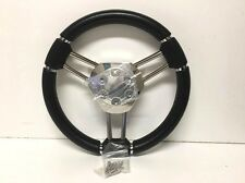 "NEW 13"" Black 3 SS Spoke Ranger Boats Steering Wheel w/ Hub (STWHW302-1) Marine"