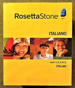 Rosetta Stone Italian, Version 3 Level 1, 2, 3, 4, & 5 Win/Mac, Brand New, Mint!