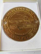 MERCEDES 300 SL CLUB Jahrestreffen 1987 Stuttgart AUTOPLAKETTE PLAKETTE BADGE