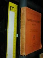 LIBRO:LE MATERIALISME ACTUEL AA.VV. FLAMMARION 1913