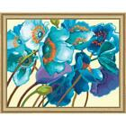 Paintworks® Blue Poppies Kit & Frame Paint-by-Number Kit