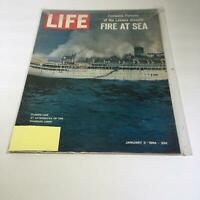Life Magazine:1/3/64 Flames Lick @ Afterdecks Of The Disabled Liner Fire @ Sea