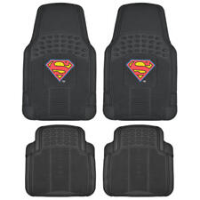 Superman Rubber Floor Mats Car Front Heavy Duty All Weather Protection - 4 PC