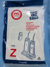 DVC Hoover Type Z Vacuum Bags (3-Total)  NEW Fits Power Drive Dimension