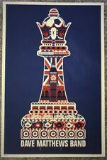 Dave Matthews Band Poster England London Queen Chess Piece Print #/400 Rare!