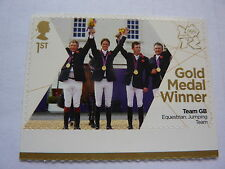 TEAM GB GOLD TEAM EQUESTRIAN JUMPING 1ST CLASS STAMPS