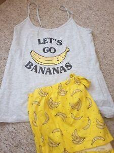Banana Fruit Novelty Cami & Shorts Pyjama Set Pyjamas Primark