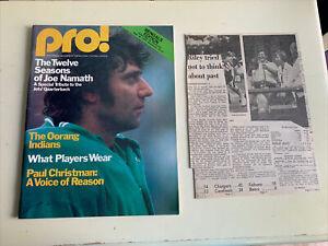 1976 Cincinnati Bengals Green Bay Packers Football Program Archie Griffin