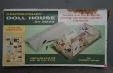 Vintage MARX Contemporary Metal DOLL HOUSE Dollhouse #5025 Ranch-Style 1950s NR