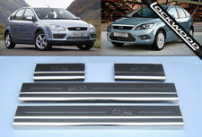 Ford Focus Mk2 (2005 - 2010) Stainless Steel Sill Protectors / Kick Plates
