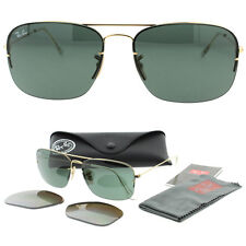 Rare Ray Ban Pilot FLIP OUT RB3482 001/71 59 Gold w/G15 Green /Gradt Brown Polar