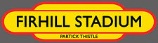 PARTICK THISTLE F.C. RAILWAY TOTEM FOOTBALL SIGN. INSIDE OR OUTSIDE USE.