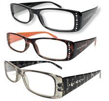 3 Pk Naturalizer Reading Glasses +1.50 Multi-Color Womens Spring Hinge Readers