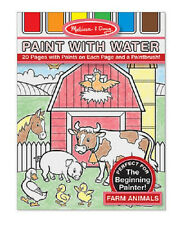 Melissa & Doug Farm Animals Red Paint with Water Kids' Art Pad #4165- New