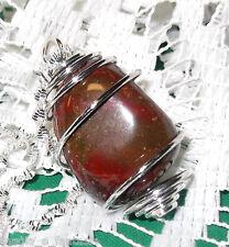 Collana con DIASPRO ROSSO cristalloterapia mineral chakra argento tibet spirale