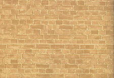 Dolls House Weathered Red Brick Wallpaper DIY Accessory 50cm x 69cm DIY 611