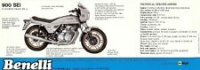 1982 Benelli 900 Sei 6 cylinder double sided brochure