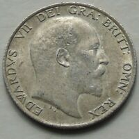 Edward VII Shilling, S3982, Nice Fine+ Grade & Hint Lustre, Good Detail