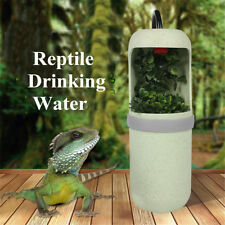 Automatic Electric Reptile Lizard Chameleon Water Drinking Fountain Bowl Filter