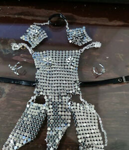 """1/6 Scale Female Soldier Silver Armor + Accessories Model for 12"""" Action Doll"""