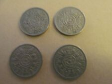 More details for 1954 elizabeth ii florin/two shillings x 4 circulated