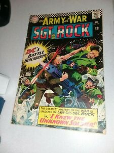 OUR ARMY AT WAR #168 SGT ROCK JOE KUBERT art 1st Unknown Soldier appearance the