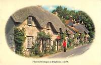 uk9669 thatched cottages at brighstone isle of wight uk