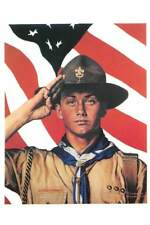 US Patriotic Flag, Boy Scouts of America Uniform, Salute, Job by Normal Rockwell