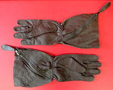 ROYAL AIR FORCE 1941 PATTERN SLANT ZIP FLYING GAUNTLETS MEDIUM
