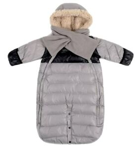 Grey Baby Clothing Medium Faux Fur Hood Doudone Soft Quality Durable Classic