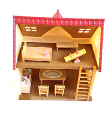 """SYLVANIAN FAMILIES House Playset with furniture & accessories lot set NICE!"""""""
