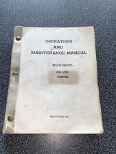 Mack Pumper Fire Truck C95 C125 operators And Maintenance Shop Service Manual