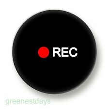 Recording Camera 1 Inch / 25mm Pin Button Badge Photography Camcorder Filming
