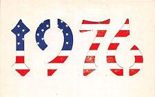 "Patriotic Postcard c1976 Hold-To-Light Htl Bicentennial ""1976"" 398"